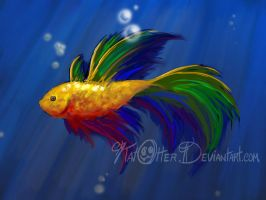 Rainbow fish by KatOtter