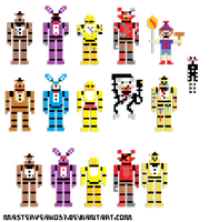 Five nights at freddy's 1 and 2 8-bit  #1 by MasterOhYeah