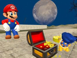 Ludwig 3D misadventure:Don't touch Mario's chest by Aso-Designer