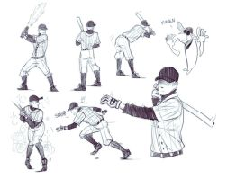 stupid batting stances by DOXOPHILIA