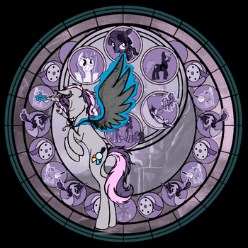 Digibrony Gift Stain Glass Project by asheira-the-hedgehog