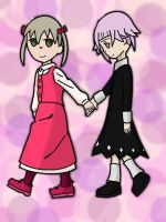 Maka and Chrona by MsSkiya