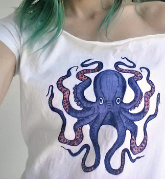 Purple Octopus Shirt by liloved1