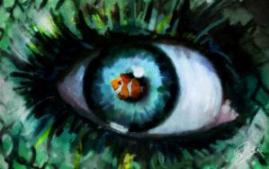Fish eye by Toefje-Kunst