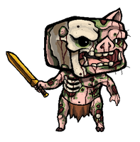 Minecraft Zombie Pigman by SirCaterpie