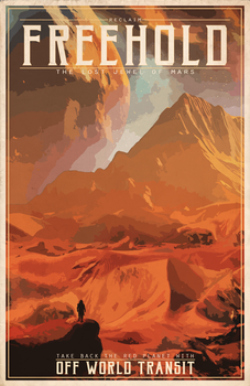Destiny- Freehold Vintage Style Travel Poster by TheChrisPMan