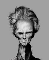 Clint eastwood caricature by Loundo