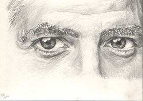 George Clooney's Eyes by taliasparkle