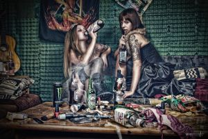 Chaos and Booze by Janus1810