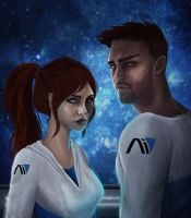 MEA: Sara and Scott Ryder by Luh-Dwolf