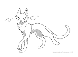 warrior cat templatemale by reaperneko on DeviantArt