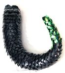 Extra Long Black and Shiny Green Dragon Tail by SerenFey