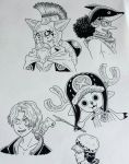 One Piece drawings by starbuxx