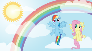 rainbow dash fluttershy wall by starboltpony