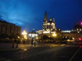 Guadalajara city at night by lnp