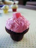 Turkish Delight Cupcake by Cinnamonster