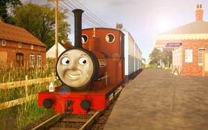 Skarloey Railway 2012 Wallpaper - (''Rheneas'') by Nictrain123