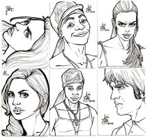 True Blood Sketch Cards by mainasha