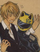 Durarara: Shizuo+Celty by cillabub