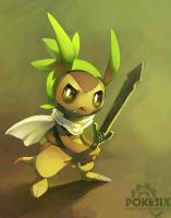 Chespin the knight by Poketix