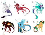 [Auction] Dragonequus/Discord Ship Adopts 2 CLOSED by KrysalisK