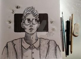 Inktober 2015 -day 8 by atsumimag
