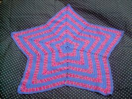 Wildberry Star Baby Blanket by couldvebeendifferent