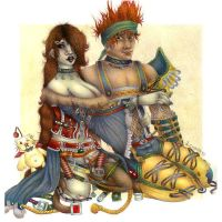 Wakka and Lulu by Leahtaur