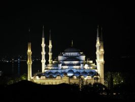 The Blue Mosque by night by phrozendesign