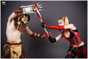 Harley vs. Scarecrow (2) by LeanAndJess