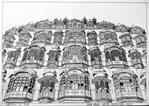 Hawa Mahal - Palace of winds by m-AES-tro