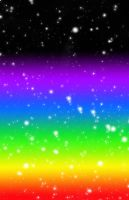 Rainbow Outer Space Background by YuniNaoki