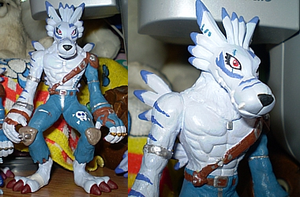 WereGarurumon Custom Figure by TheGreatMatsutzu