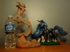 MLP - Luna, pipsqueak and Discord sculptures by Miki-