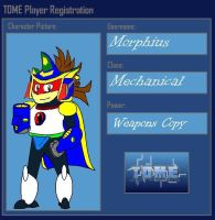 TOME Player Registration -  Morphius by MorphiusX
