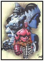 Hellboy Goes to Bali by pipin