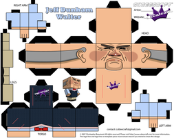 Cubeecraft of the Puppet Walter Jeff Dunham by SKGaleana
