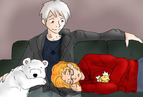 PruCan Couch Cuddles by StockholmPudding