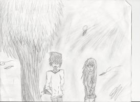 A gal and a guy under a lorax tree o3o by Gizmo971