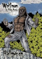 Wolfman Frosted Clear Card Art - Tony Perna by Pernastudios