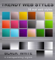 Trendy Web2.0 Photoshop Styles by graphex