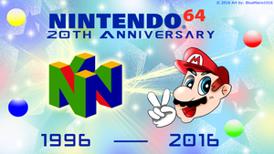 Happy 20th Anniversary Nintendo 64! by BlueMario1016