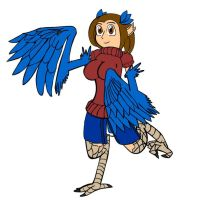 Melinda the Blue Harpy by LuxiotheEchidna