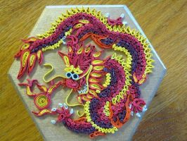 Quilled dragon box by nightingales-rose