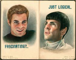 Kirk and Spock by Vesea