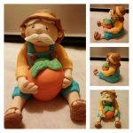 A fondant grandpa with his carrot by shults