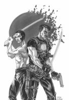 Bloodshot and RAI [greyscale] by grendeljd