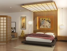 Bedroom Japanese Modern by KurniawanNg