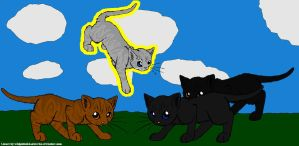 Crowfeather and His Mates 2 by DemonicVampyreWolf