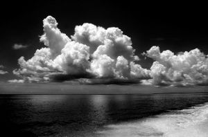 Black and White Sky -WP by mamamac